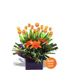 Tulips and Asiatic Lily Arrangement