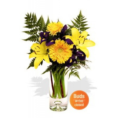 Gerbera , Lily and Iris Bouquet